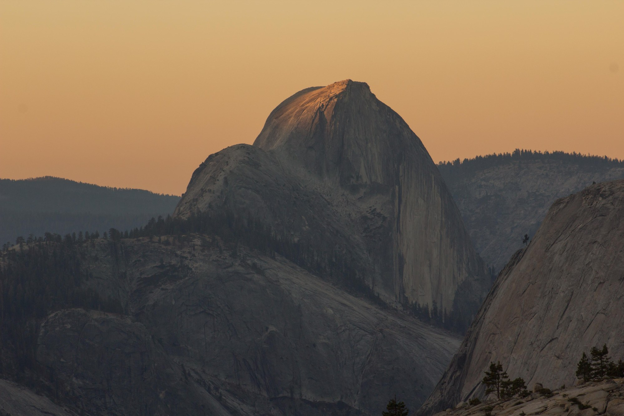 Sunrise on Half Dome at Olmsted Point Yosemite National Park